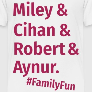 Family Fun Miley Cihan Robert Aynur Namen - Kinder Premium T-Shirt