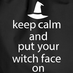 Halloween Keep Calm Put Your Witch Face On - Turnbeutel