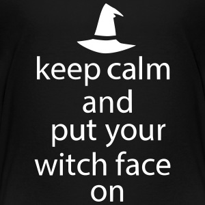 Halloween Keep Calm Put Your Witch Face On - Teenager Premium T-Shirt