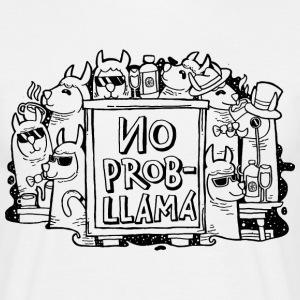 No Prob- Llama | Cool Illustration T-shirts - Herre-T-shirt
