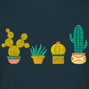 Cool Cactus Illustration Design T-shirts - Herre-T-shirt