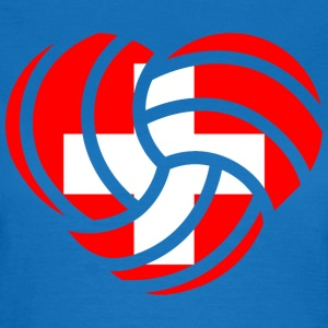 VolleyballFREAK Herz Schweiz MP T-Shirts - Frauen T-Shirt
