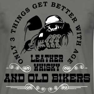 Old Bikers Get Better With Age - Men's T-Shirt