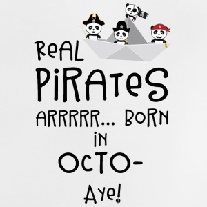 Real Pirates are born in OCTOBER Sbclk Baby Shirts  - Baby T-Shirt