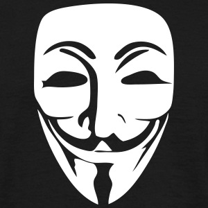 Anonymous Logo (Guy Fawkes Mask) T-Shirts - Men's T-Shirt