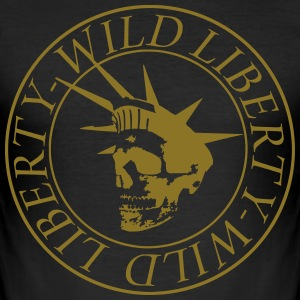wild liberty golden man - Männer Slim Fit T-Shirt