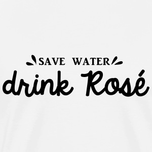 SAVE WATER DRINK ROSÉ  - T-shirt Premium Homme