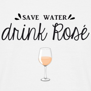 SAVE WATER DRINK ROSÉ  - T-shirt Homme