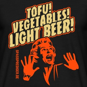 Tofu, Vegetables, Light Beer T-Shirts - Men's T-Shirt