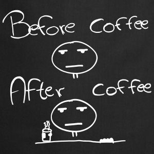 Befor and After Coffee - una persona di mattina Grembiuli - Grembiule da cucina