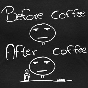 Befor and After Coffee - una persona di mattina Magliette - T-shirt scollata donna