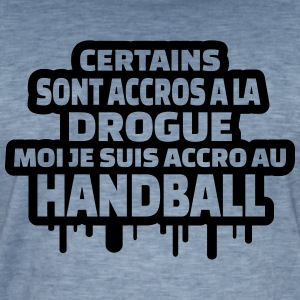 je suis accro au handball Tee shirts - T-shirt vintage Homme