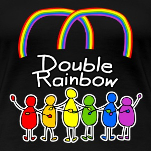 Double Rainbow T-Shirts - Frauen Premium T-Shirt