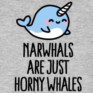 Narwhals are just horny whales Camisetas - Camiseta ecológica hombre