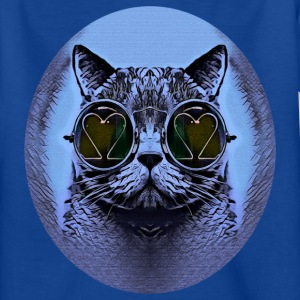 FUNNY CAT BLUE T-Shirts - Kinder T-Shirt