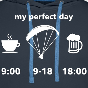 perfect paragliding day Pullover & Hoodies - Männer Premium Hoodie
