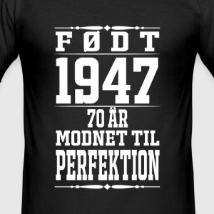 1947-70 år perfektion - 2017 - DK T-shirts - Herre Slim Fit T-Shirt