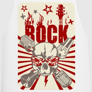 festivals2017 rock skull microphone guitar  Aprons - Cooking Apron