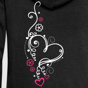 Large heart with small hearts and flowers Hoodies & Sweatshirts - Women's Premium Hooded Jacket