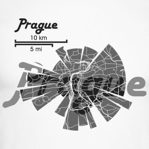 Prague Map Long sleeve shirts - Men's Long Sleeve Baseball T-Shirt