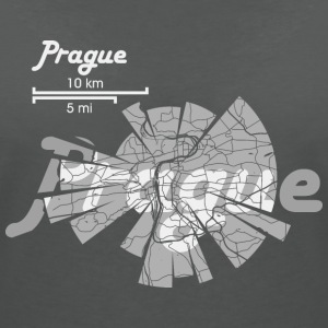 Prague Map T-Shirts - Women's V-Neck T-Shirt