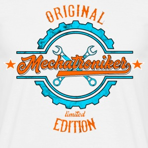 Mechtroniker orange blue T-Shirts - Männer T-Shirt