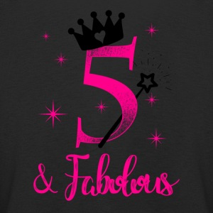 five and fabolous birthday child kid gift Langarmshirts - Kinder Premium Langarmshirt