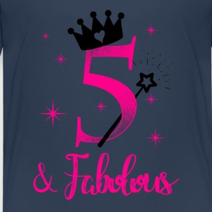 five and fabolous birthday child kid gift T-Shirts - Kinder Premium T-Shirt