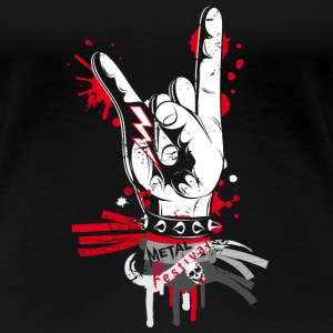 Metal and rock hand sign T-Shirts - Women's Premium T-Shirt