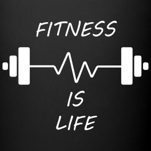 Fitness Is Life Mugs & Drinkware - Full Colour Mug