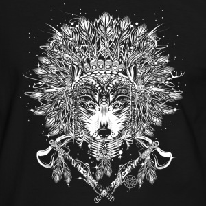 Wolf chief with headdress T-Shirts - Men's Ringer Shirt