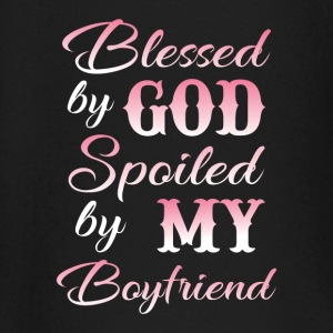 Blessed by god spoiled by my boyfriend Baby Long Sleeve Shirts - Baby Long Sleeve T-Shirt