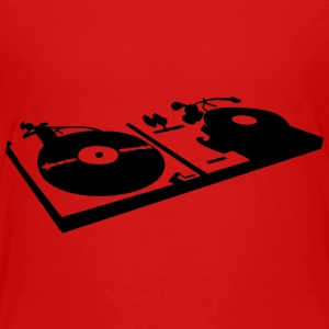 DJ, record player, vinyl Shirts - Teenage Premium T-Shirt