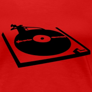 DJ, record player, vinyl T-Shirts - Women's Premium T-Shirt