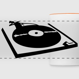 DJ, record player, vinyl Mugs & Drinkware - Panoramic Mug