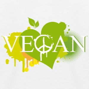 Vegan heart graffiti Shirts - Kids' Baseball T-Shirt