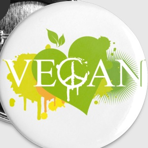 Vegan heart graffiti Buttons - Buttons medium 32 mm