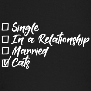 Single, in a relationship, married, Cats Baby Langarmshirts - Baby Langarmshirt