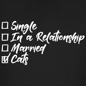 Single, in a relationship, married, Cats T-skjorter - Økologisk T-skjorte for menn