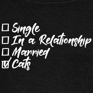 Single, in a relationship, married, Cats Pullover & Hoodies - Frauen Pullover mit U-Boot-Ausschnitt von Bella