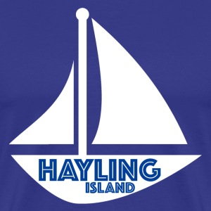 Retro Mens Sailing Tee - Hayling Island - Men's Premium T-Shirt