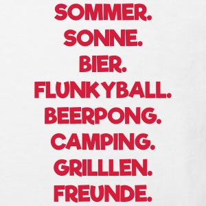 Sommer Sonne Flunkyball T-Shirts - Kinder Bio-T-Shirt