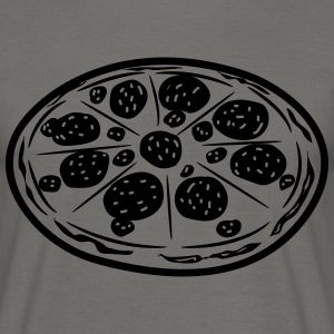 Fastfood pizza T-shirts - Herre-T-shirt