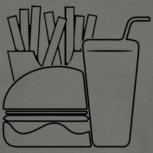 Fast food menu design T-shirts - Herre-T-shirt