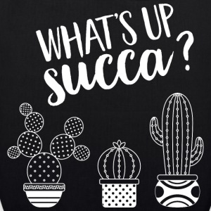 What's Up Succa | Succulent Illustration Design Tasker & rygsække - Øko-stoftaske