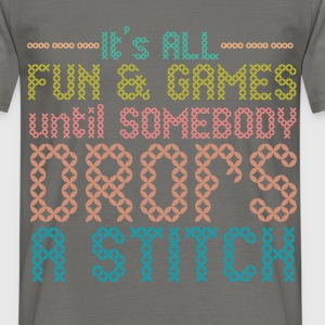 Funny - It's all fun and games until somebody drop - Men's T-Shirt
