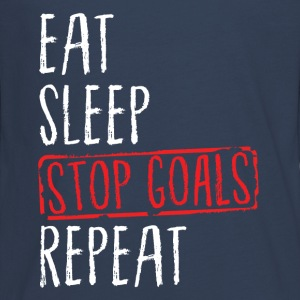 Lacrosse - Eat Sleep Stop Goals Repeat Manga larga - Camiseta de manga larga premium adolescente