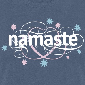 Namaste with flowers T-Shirts - Frauen Premium T-Shirt