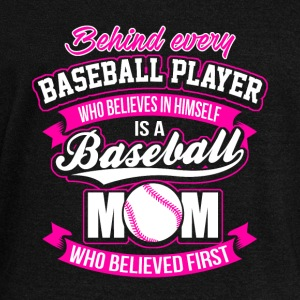 Behind Every Baseball Player Baseball Mom Sudaderas - Sudadera con escote drapeado mujer