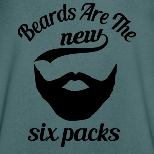 Beards are the new sixpacks T-shirts - Mannen T-shirt met V-hals
